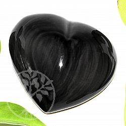 Obsidian Regenbogen Herz Stein  A+/AA 30/60mm+-