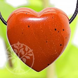 Heart Jasper Brekzien Stone Pendant 20mm