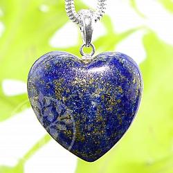 Lapislazuli Heart Stone Anhänger Sterling Silber 925 AA