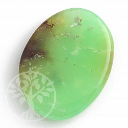 Chrysoprase Chakrastein flat gemstone 7 mm thick 25-30mm