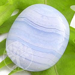 Chalcedon Blau Chakrastein flacher Stein klein 6/8*20/25 mm