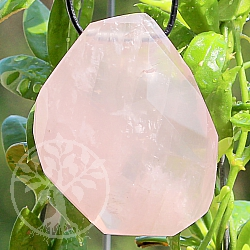 Rose Quartz Stone Pendant 40*34mm