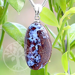Opal Stone Pendant 21*12mm With Silver 925