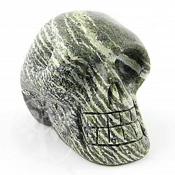 Grüner Edelstein Schädel Silberauge Kristallschädel 36/48*40/60mm A