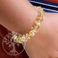 Citrin Armband facettiert Zitrin Perlen Edelsteinarmband