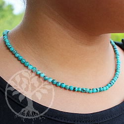 Necklace Turquoise With Silver Clasp 925 Length 45cm