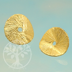 Spacer Wave Gold Round Bead 12mm