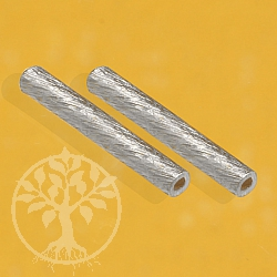 Silver Longitudinal Bead brushed 20x2mm