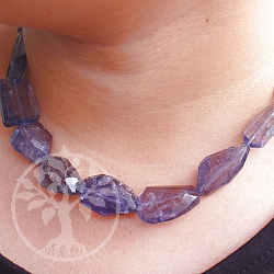 Gemstone Iolith Necklace Length 46mm