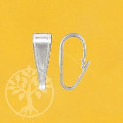 Silberöse Click Einhänger Silber 925 8x3mm
