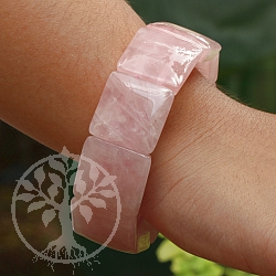 Rose Quartz Bracelet Square Big