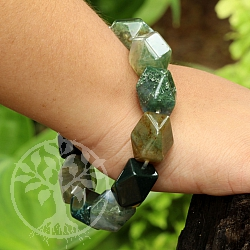 Moosachat Gemstone Bracelets facetted