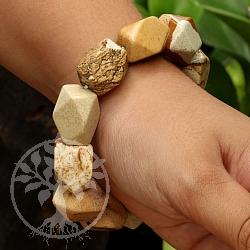 Landschaftsjaspis-Armband facettiert Halb-Edelsteine aus Afrika Nugget