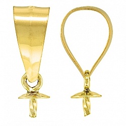 Eyelet Cup and Twist Peg Gold Pendant 5.3mm, 3mm Cup, Goldfilled 14K 1/20