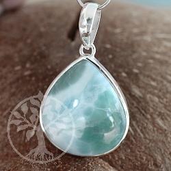 Larimar Pendant Silver 925 Jewellery Drop Shape