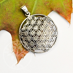 Flower of Life Silver Pendant