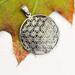 Blume des Lebens Silberanhänger