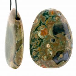 Rhyolite Pendant Stone Drop Shape 50x40mm