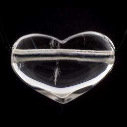 Bergkristall Herz Anhänger Steinherz Quer 30x20mm