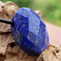 Lapis Lazuli Pendant Stone Facetted Oval 22X15mm