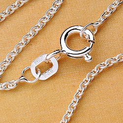 Marine Silver necklace sterlingsilver Chain 40cm x 0,8mm lightweight