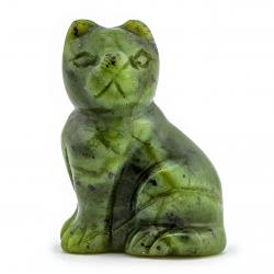 Jade Nephrit Edelstein Jade Katze Figur 40X28mm