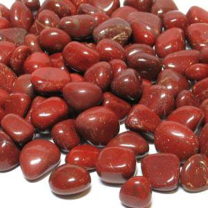 Roter Jaspis Trommelsteine 100Gramm 13/18mm  - Auch Wassersteine f Reagenzglas