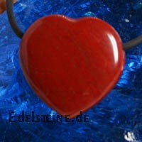 Roter Jaspis Herz Anhänger Flat BIG