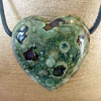 Rhyolite Heart Pendant Belly BIG
