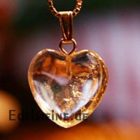 Crystal Heart Pendant Mini 20mm