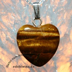 Tiger Eye Heart Pendant Mini 3 pcs