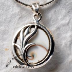 Shiva - Muschel Anhänger mit Silber 15