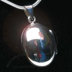 Medaillon aus echt Silber 925 gross