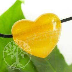 Orangen Calcit Herz Anhänger Belly 24x22mm AA
