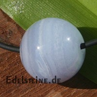 Chalcedony pendant banded ball 10mm