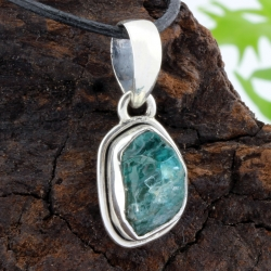 Apatite Blue Pendant Sterling silver 925 21x13mm