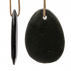 Shungite pendant drop shape XXL 70x50mm