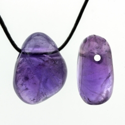 Amethyst Pendant Small Tumble Stone High Quality