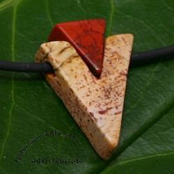 Red/Land Jasper Pendant v-shape