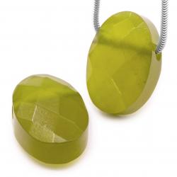 Korea Jade Stein Anhänger Aloha facettiert oval 22x15mm