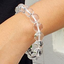 Bergkristall Edelstein Armband runde Perlen AA 12mm