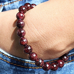 Garnet Gemstone Bracelet 8mm