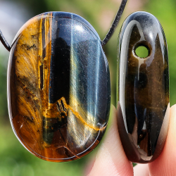 Tiger Eye Stone Oval Shape Pendant 30X20 mm