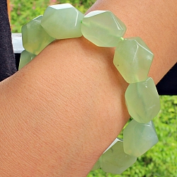 China Jade Faceted Gemstone Bracelet