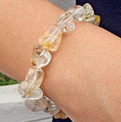 Natural Topaz Tumbled Stone Bracelet  10-12mm