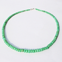 Chrysopras Necklace Round Shape Beads 46 Cm