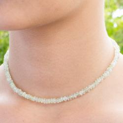 Green Aventurine Necklace  Beads 5 mm.