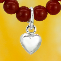 Silver heart with eyelet sterling silver 925