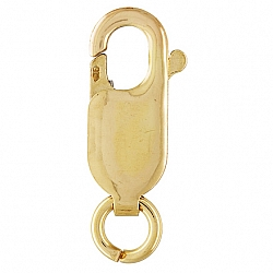 Gold Verschluss Karabiner Lobster mit Ring Gold Filled 13,5x5mm 14 K 1/20