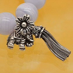 Silver pearl charm sterling silver 925 24mm